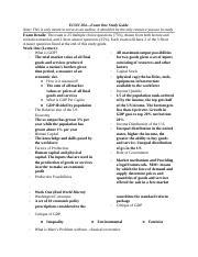 econ 204 study guide