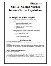 m4 Unit II- Capital Market Intermediaries regulations1.pdf