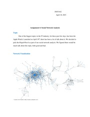 Assignment 4 social network analysis