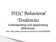 Fall 2013 DISC introduction
