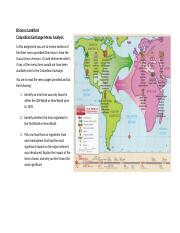 Columbian Exchange Menu Analysis Worksheet