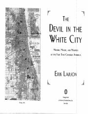 Larson 2003 Devil in the White City (excerpts)