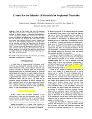 Biocompatibility_Materials for electrodes