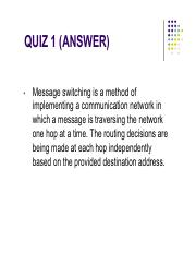 Quiz 1 Answer