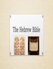 The Hebrew Bible.pptx