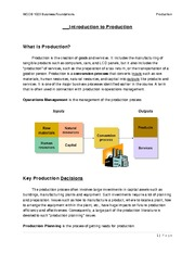 Production Handout