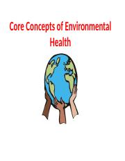 Module 2- Core Concepts of Environmental Health