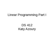 Linear Programming Part 1