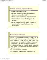 Credit Market Imperfections