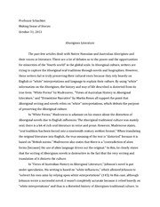 Aborigines Literature Essay
