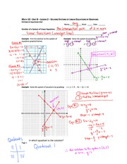 Solving Graphically Notes