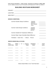SUMMER BUILDING HEATGAIN WORKSHEET08