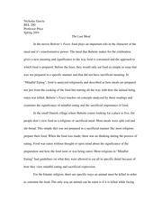 REL 200 The Last Meal Essay