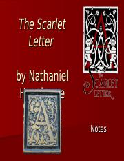 The Scarlet Letter Notes
