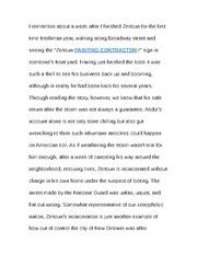 Essay of zeitoun
