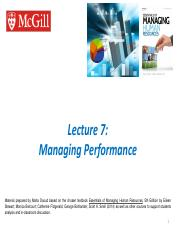 Ch 6 - Managing Performance final