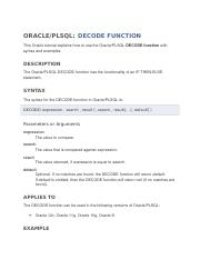 ORACLE DECODE Functs.docx