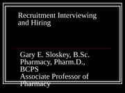 Lecture 3 Recruitment Interviewing and Hiring fall 2014 post