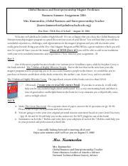 aice general paper summer assignment Aice general paper is not a traditional english class, while it does count as your   how to read literature like a professor (summer reading but referenced.
