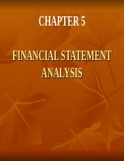 CHAPTER 5 FINANCIAL STATEMENTS ANALYSIS.ppt