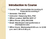 Introduction to Course (2)