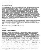 Interscholastic Coaching Research Paper Starter - eNotes.pdf
