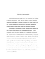 PHIL 110 Classification essay