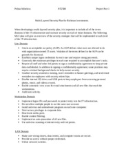project unit 1 multi layered security A multi-layered defense in depth strategy helps organizations address many of the most common causes  a layered approach to network security  september 1, 2014.
