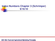 Sept 16, Intro to Index Numbers