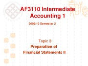 Topic03 Preparation of Finanical Statements II