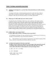 TOPIC 5 TUTORIAL SUGGESTED SOLUTIONS