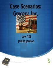Law 421 week 3 team legal