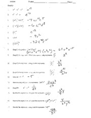 Exponent Review Answers