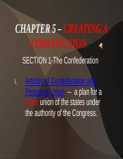 CHAPTER 5 – CREATING A CONSTITUTION.ppt