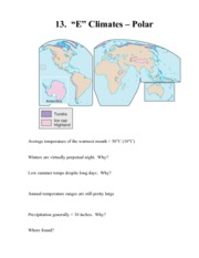 Polar Climates Notes
