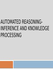 Inference and Knowledge Processing
