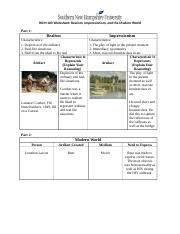 Week6-Worksheet Realism, Impressionism, and the Modern World.docx