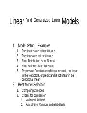 Linear and Generalized Linear Models.ppt