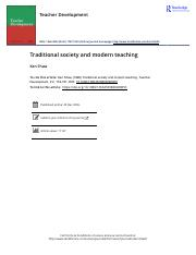 Traditional society and modern teaching.pdf