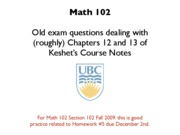 oldExamQuestionsCh12to13 - Approximation Methods, More Diff Eq