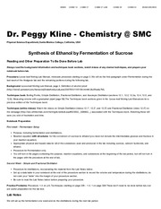 Synthesis of Ethanol by Fermentation of Sucrose _ Kline _ Chem 21