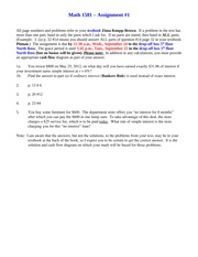 Assignment 1  Questions 2014