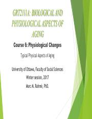 Lecture 6 (Typical Physical Aging)