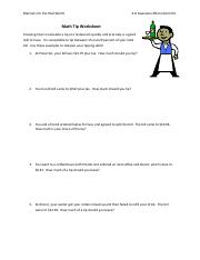 Math tip worksheetpdf manners for the real world 4h awesome this is the end of the preview sign up to access the rest of the document ibookread Read Online