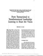 03 Bass tranformational and transactional leadership