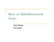 (10) MultiArrays (Sina)