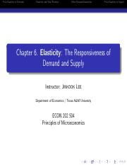 Elasticity Chapter6