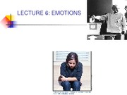 emotionsLECTURE 6, oct.23