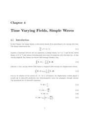 Ch 4- Time Varying Fields