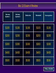 Exam 4 Jeopardy Review